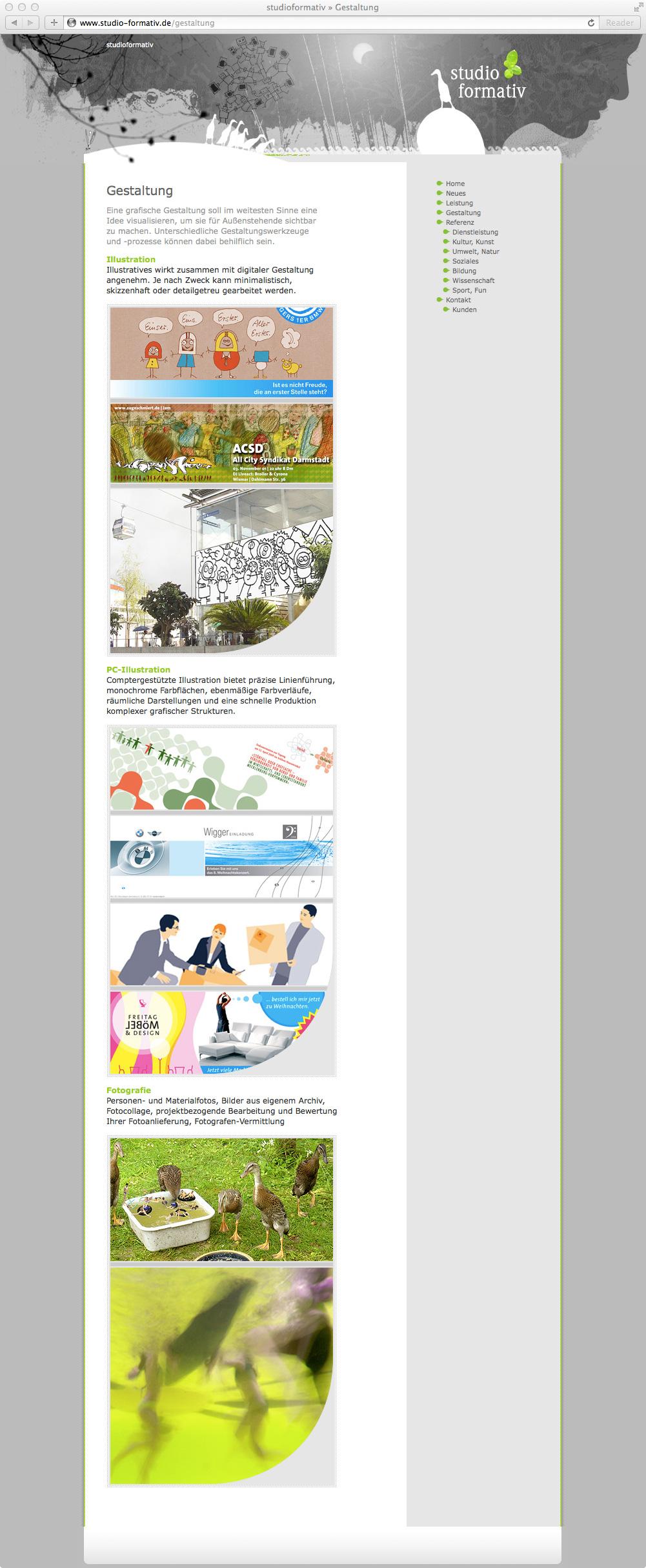 Studio Formativ: Website, Wordpress und Gestaltungstechnik